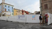 Terremoto, 4 anni dopo: piazza Garibaldi a Mirandola (Foto Fiocchi)