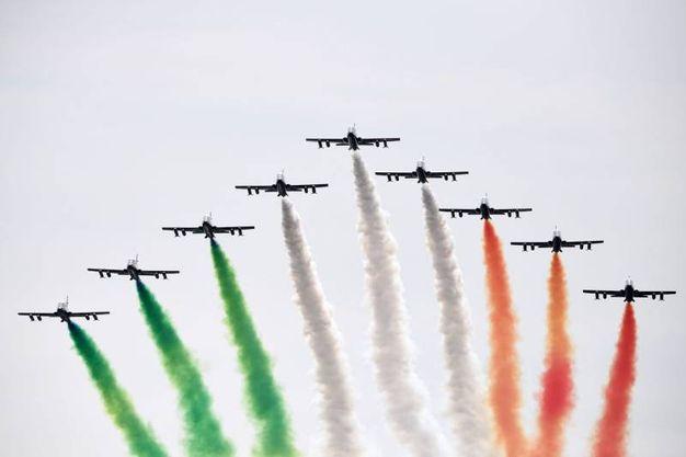 Aurodromo di Monza, lo spettacolo delle Frecce Tricolori (Afp)