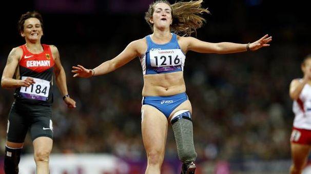 Martina Caironi, oro a Londra nei 100 metri (Ansa)