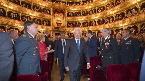 Il presidente della Repubblica Sergio Mattarella  al Teatro Grande