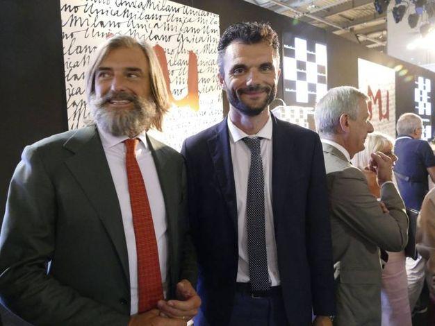 Andrea Cavicchi e Matteo Biffoni a Milano Unica (foto Attalmi)