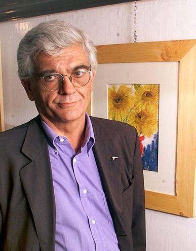 All'inaugurazione della sua mostra alla Galleria Mentana nel 2006 (archivio New Press Photo)