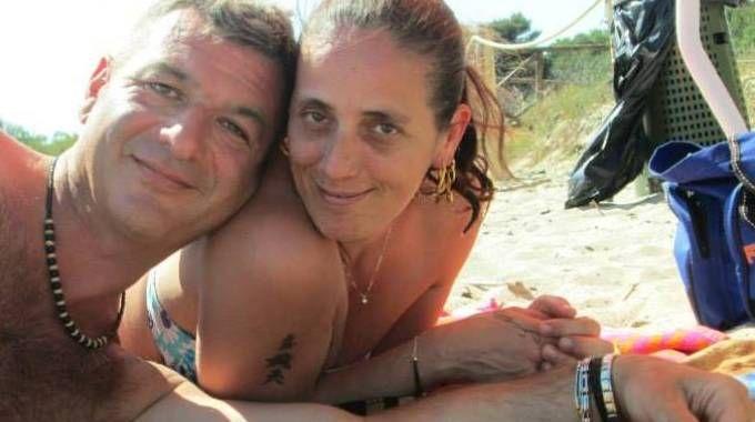 Fabrizio Gratta e Beatrice Paini in un momento felice