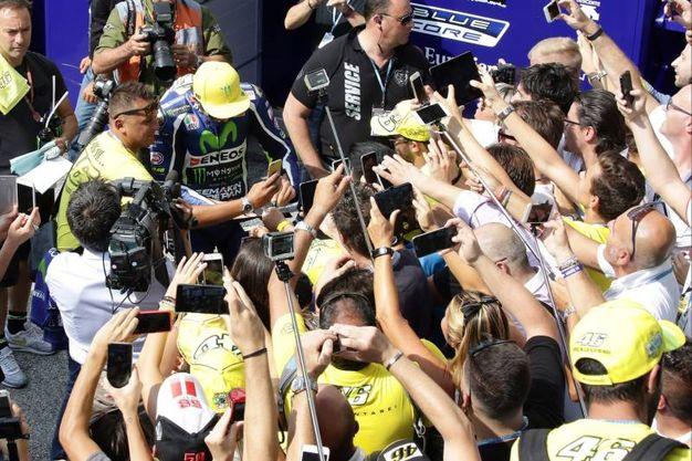 Valentino Rossi star a Misano (foto Petrangeli)