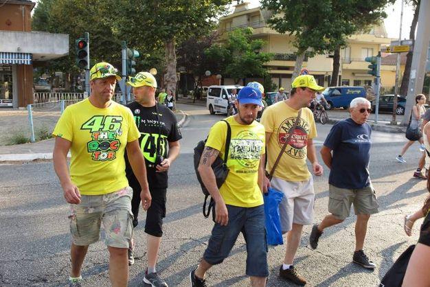 I fan di Valentino Rossi a Misano (foto Petrangeli)