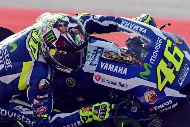Il nuovo casco di Valentino Rossi (foto Petrangeli)