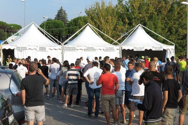 Il pubblico del Motogp a Misano (foto Petrangeli)