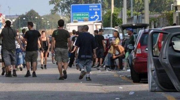 I giovani hanno lasciato Cassina solo nel primo pomeriggio dopo una nottata di eccessi