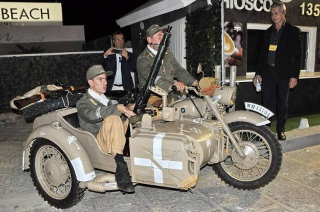Sidecar BMW con militari (Foto Concolino)