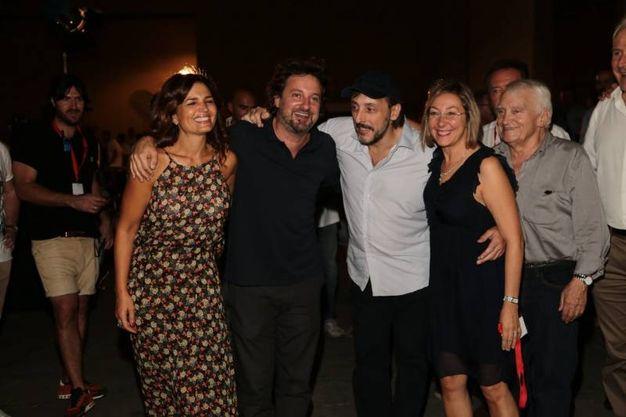 Presente il cast con Pieraccioni, Ceccherini, Tosca D'Aquino e Barbara Enrichi (foto Giuseppe Cabras/New Press Photo)
