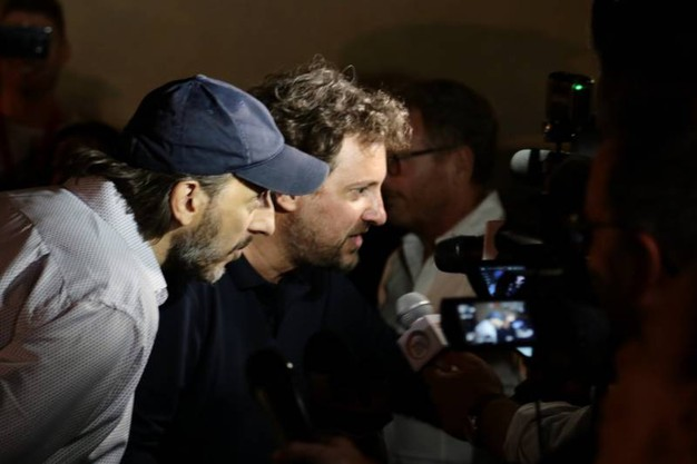 Massimo Ceccherini e Leonardo Pieraccioni (foto Giuseppe Cabras/New Press Photo)