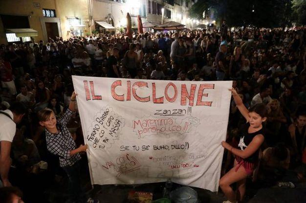 Santo Spirito gremita (foto Giuseppe Cabras/New Press Photo)