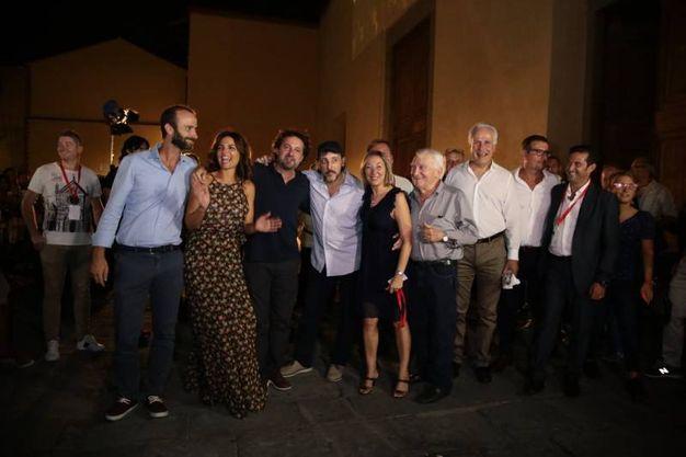 La proiezione alla presenza del cast (foto Giuseppe Cabras/New Press Photo)