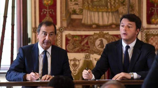 Beppe Sala e Matteo Renzi