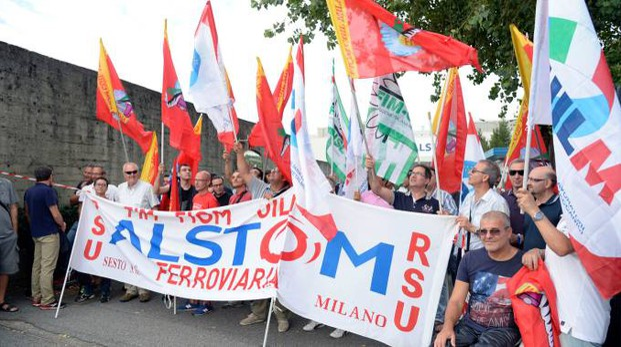 Una recente protesta dei lavoratori a Sesto