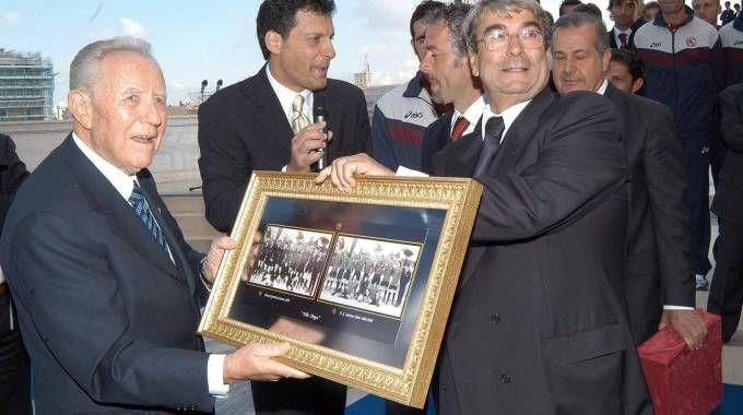 Carlo Azeglio Ciampi a Livorno (foto d'archivio Novi)