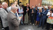 Strada del Jazz,  tre nuove stelle tra via Orefici e via Artieri. Presenti Arbore e Carboni (Foto Schicchi)
