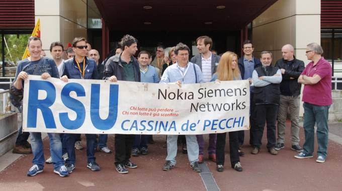 I lavoratori della Nokia