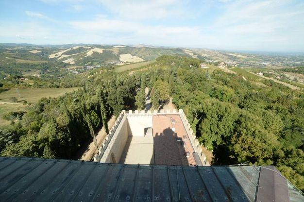 Il panorama da Rocca delle Caminate (Foto Frasca/Fantini)