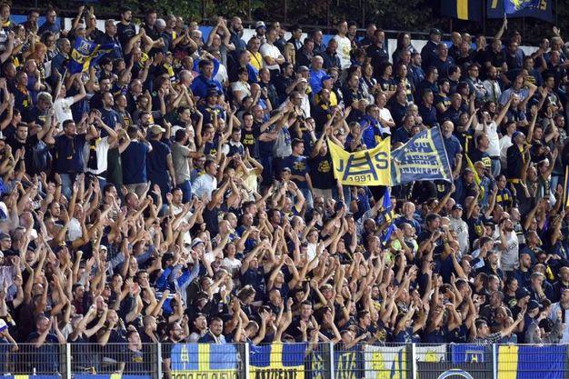 I tifosi dell'Hellas Verona, il Mazza era tutto esaurito (foto Businesspress)