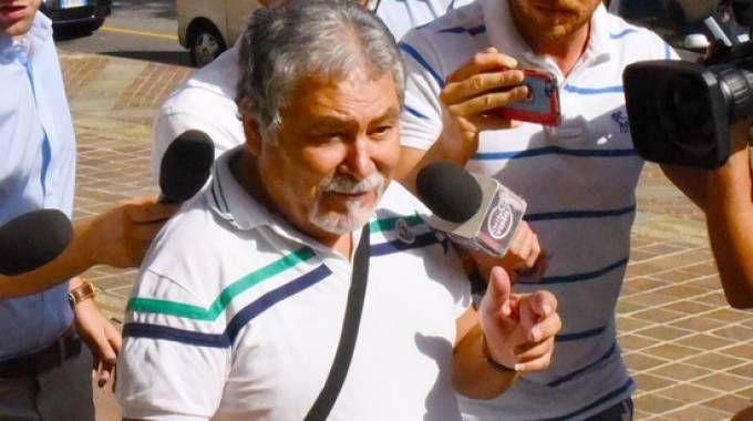 Antonio Tizzani arriva in Procura (De Pascale)