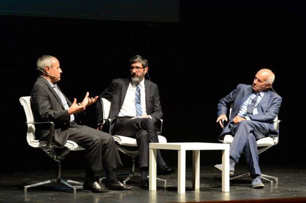 Fausto Bertinotti (Prc) e Juliàn Carròn (Cl) (Foto Frasca)