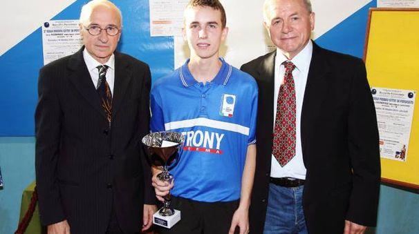 Il 19enne crenasco Mattia Visconti con la maglia azzurra
