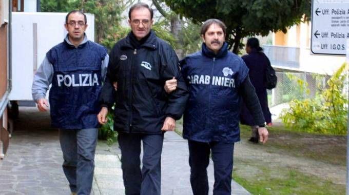 Costante Alessandri durante l'arresto del 2002 (Ravaglia)