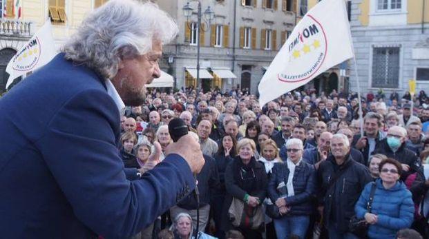 Beppe Grillo a Sarzana (Pasquali)