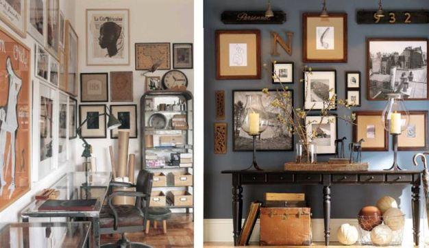 Idee e consigli casa come appendere i quadri alle pareti - Come disporre i quadri in sala ...