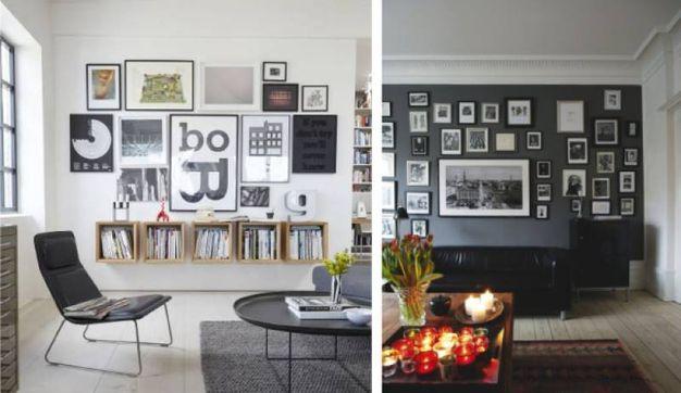 Pareti Con Fotografie : Idee e consigli casa: come appendere i quadri alle pareti magazine