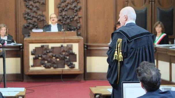 Un momento dell'udienza (foto Frasca)