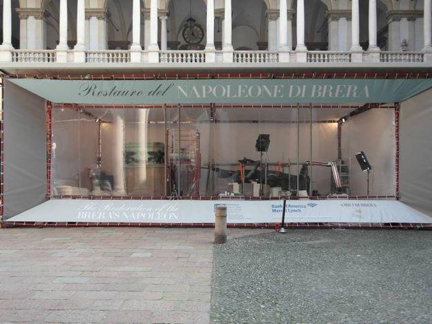 Il Napoleone di Brera durante il restauro
