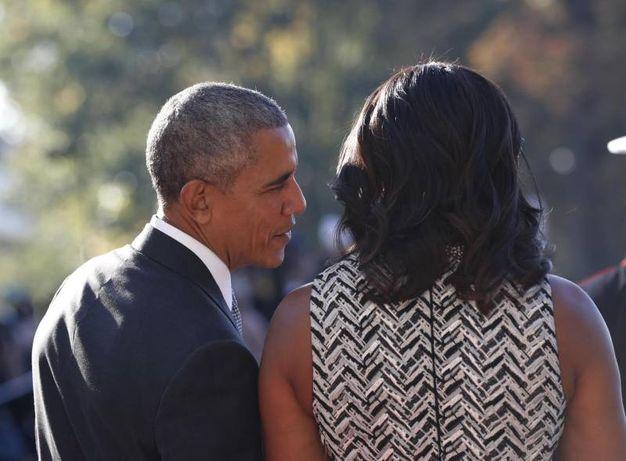 Obama e Michelle accolgono Renzi alla Casa Bianca