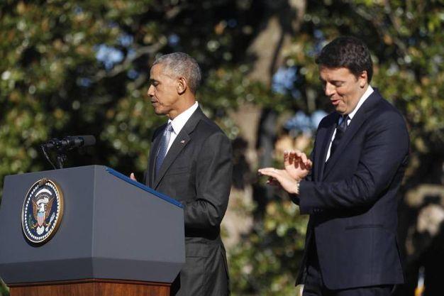 Matteo Renzi e Barack Obama (Ansa)