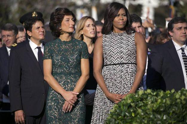 Michelle Obama e Agnese Landini (Ansa)