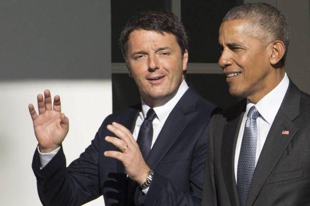 Matteo Renzi e Barack Obama alla Casa Bianca (Ansa)