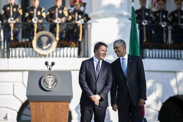 Matteo Renzi e Barack Obama alla Casa Bianca(Ansa)