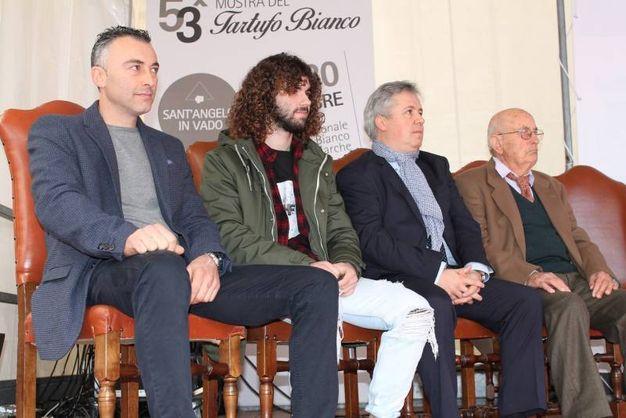 Sant'Angelo in Vado (PU), da sinistra Ivan Matteucci, Andrea Paoloni, Massimo Galavotti e Pasquale Nonni