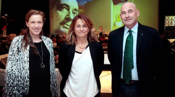 Sara Riffeser Monti, Elenoire Cavalli e Andrea Riffeser Monti (Newpress)