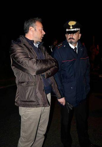 Il sindaco di Goro Diego Viviani e il tenente Andrea Coppi (Foto Businesspress)