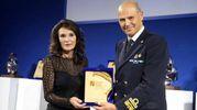 Patrizia Signorini e l'ammiraglio Roberto camerini