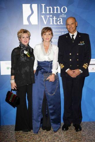 Nausika Spahia con l'ammiraglio Camerini e la moglie