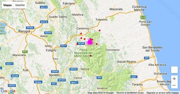 La zona dell'epicentro (Ansa)