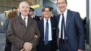 Da sinistra Ettore Lonati e Carlo Maffioli, costruttori di Scalo Milano con il sindaco Giuseppe Sala