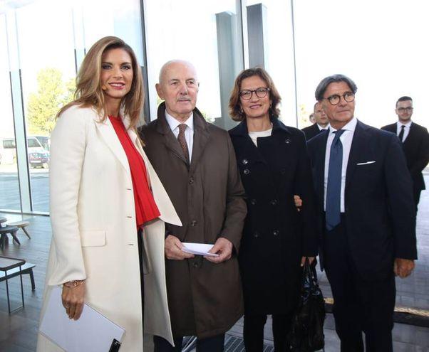 Da sinistra Martina Colombari, madrina di Scalo Milano, Ettore Lonati, Mariastella Gelmini e Carlo Maffioli
