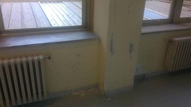 Terremoto 30 ottobre, danni all'ospedale (Foto Porfiri)