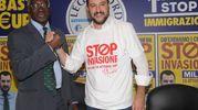 Salvini presenta il nuovo responsabile l'immigrazione Toni Iwobi (Newpress)