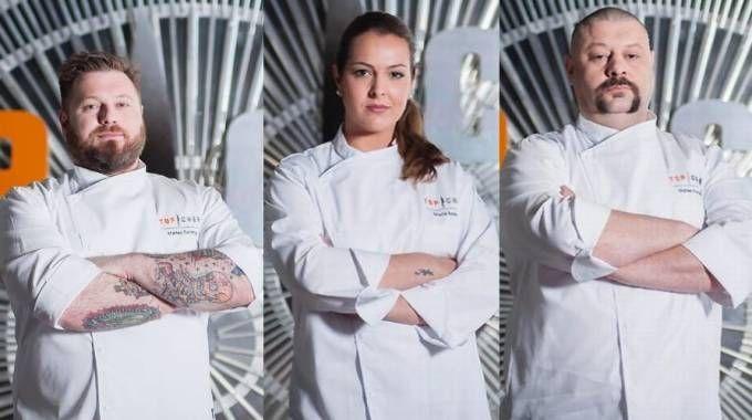 Finalisti Top Chef Italia: Matteo Torretta, Maria Amalia Anedda e Matteo Fronduti