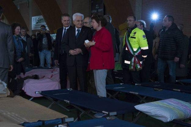 Il capo dello Stato incontra gli sfollati (Foto da Quirinale.it)